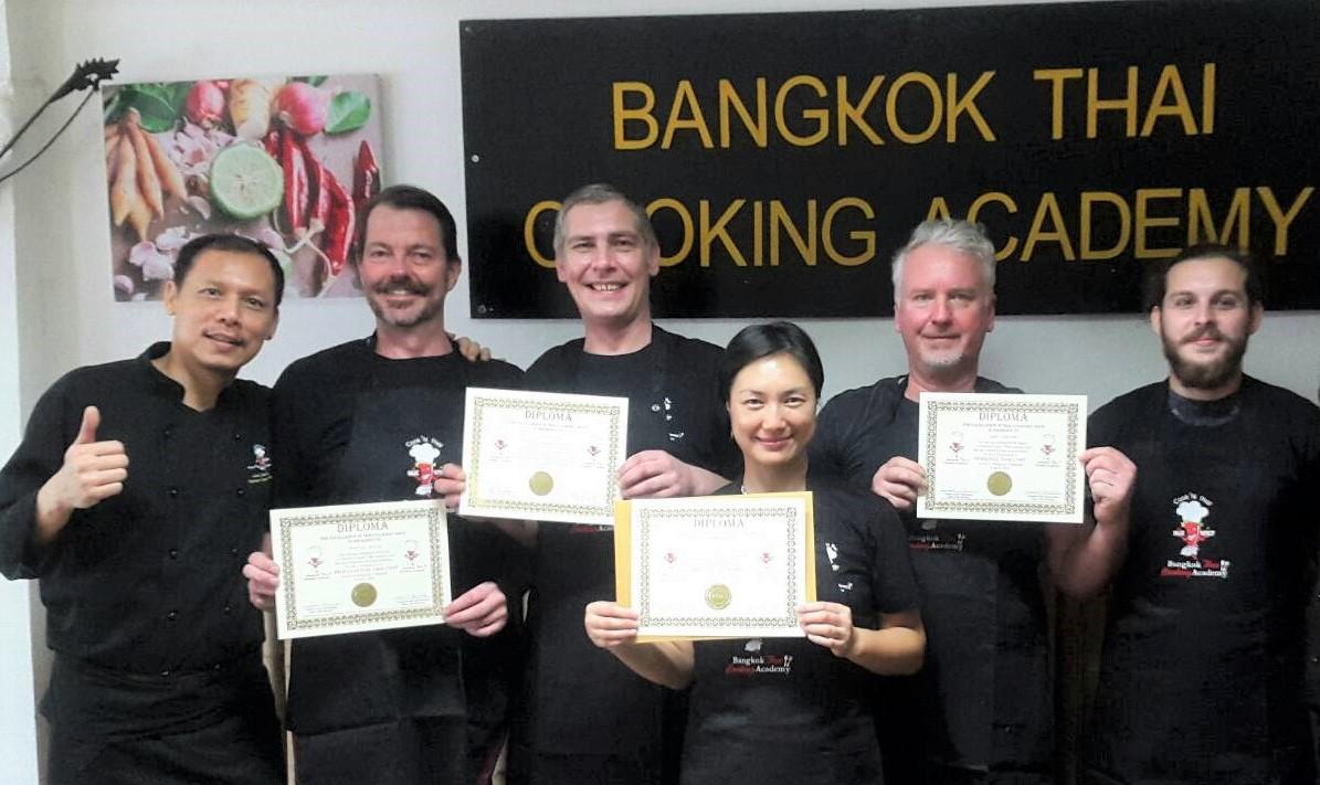 Chef course graduation Bangkok Thai Cooking Academy